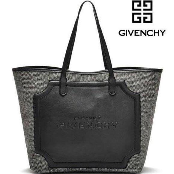 Leather Gift Tote Grey Black Givenchy Faux Bag Vip vm0N8wOn